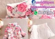Casaca con diseño de flores para niña a s/.55