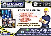 Venta de asfalto de la mejor calidad - chemimax