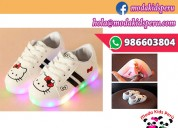 Zapatillas blancas hello kitty muy flexibles s/69