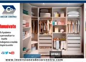 Muebles en melamine - inversiones decor centro