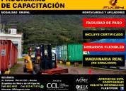 Capacitación y certificación de op. montacargas