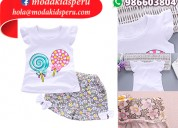 Polo y short para niñas diseños desde s/.45