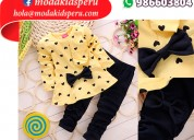 Conjunto manga larga y pantalón para niñas s/.49