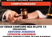 Clases de secretariado juridico en estudio jurid.