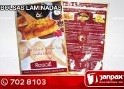 Bolsas laminadas - janpax