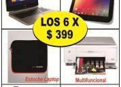 Laptop – tablet – impresora – mouse – estuche