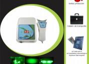 Lampara de blanqueamiento luz verde