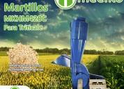 Molino triturador meelko de biomasa hasta 700 kg hora - mkh420c