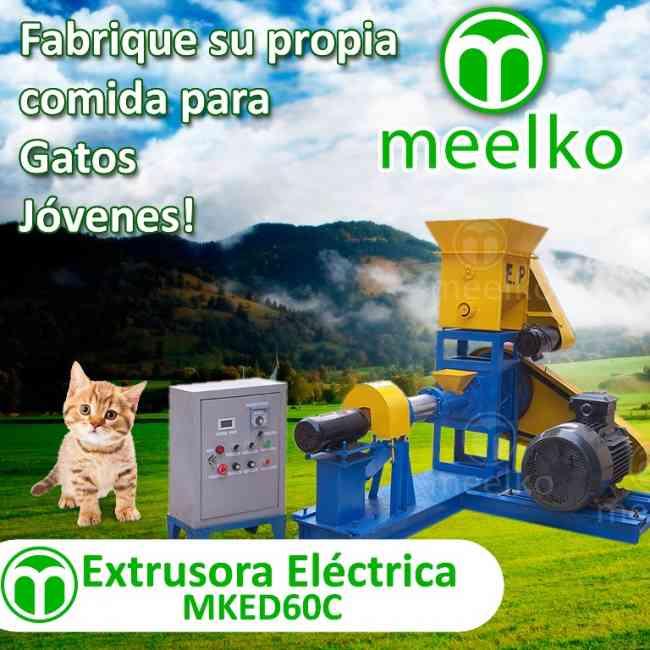 Extrusora Meelko para pellets alimentación gatos 120-150kg/h 15kW - MKED060C