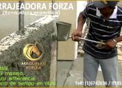 Lanzadora de mortero para revestimiento de paredes