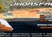 Fabricamos breas/asfaltos de optima calidad y gara