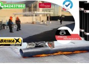Instalacion de membrana asfaltica, calidad a-1.