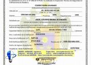 Certificado de operatividad de luces de emergencia