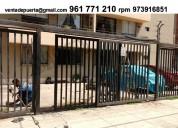 Fabrica .puerta de garaje corredizo en metal surco