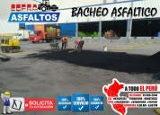 Venta e servicio de bache asfaltico  en frio