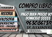 Compro libros voy a domicilio cel.963086739