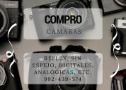 Compro cÁmaras reflex, sin espejo, digitales,