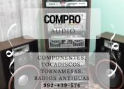 Compro equipos audio componentes, tocadiscos,