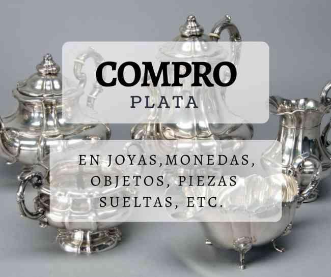 COMPRA DE PLATA,EN JOYAS, MONEDAS,CUBIERTOS, demas
