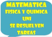 Clases de matematica fisica y quimica escolar uni