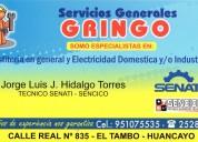 """""""gasfitería y electricidad maestro"""""""