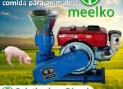 Maquina meelko para pellets con madera 120 mm
