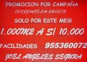 Gran promociÓn! terrenos en caÑete 1ooom2 a 10,000
