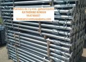 puntales importados de 3 y 4 metros galvanizados