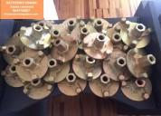Tuercas plato con esparragos galvanizados nuevos