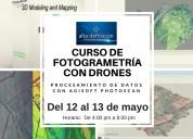 Curso de aero fotogrametría con drones