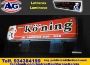 Letreros luminosos publicidad agv lima perú