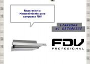 017582532 fdv campanas extractoras servicio
