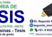AsesorÍa de proyectos, tesinas y tesis, pre grado