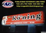 Avg letreros avg letreros luminosos lima perú