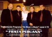 Conjunto criollo e internacional  fiesta peruana