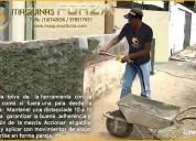 Lanzadora de mortero- herramienta revoque de pared
