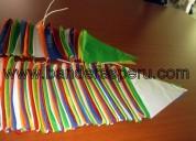Banderas de plástico para ferias en venta