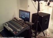 Alquiler de sonido profesional arnolds en p/ libre