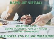 Alquiler de oficinas virtuales en miraflores