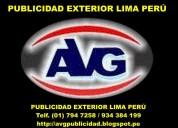101 avg publicidad exterior letreros lima perú
