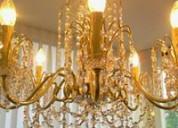 Restauración de lámparas y arañas  en san  isidro