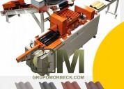 Maquina para fabrica de tejas de concreto