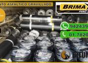 Membrana asfaltica rollo de 10x1 de 3mm, brimax.