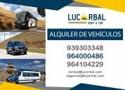 Alquiler de camionetas 4x4, buses, camiones