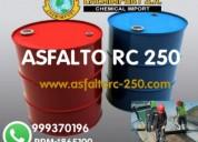Asfalto rc 250 puesto en obra -aditivos.