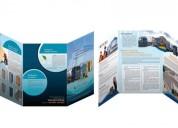Diseño de brochures para impresion en alta calidad.