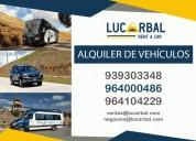 Alquiler de furgonetas y buses junin