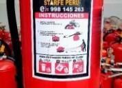 Vendo extintores de 6 kg 9 kg 12 kg 998145263