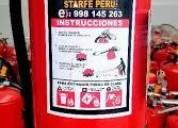 Starfe perure carga de extintores
