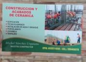 Maestro constructor y edificación, contactarse.